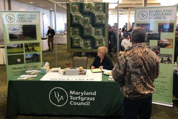 A Maryland Turfgrass Council booth at an event.