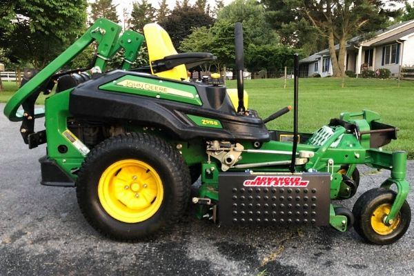 One of Susquehanna Lawn Care's large commercial mowers ready to be put to use.